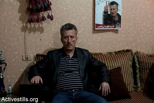 Tamimi on vacation from prison, 16.4.12 (Keren Manor / Activestills)