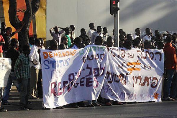 African refugees demonstrate in Tel Aviv, earlier this week (Photo: Yossi Gurvitz)