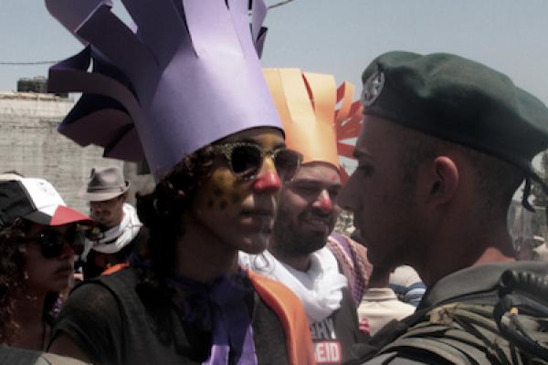 Protest at Al-Ma'asara, Friday, July 13, 2012 (photo: Quqiue Kierszenbaum (C))