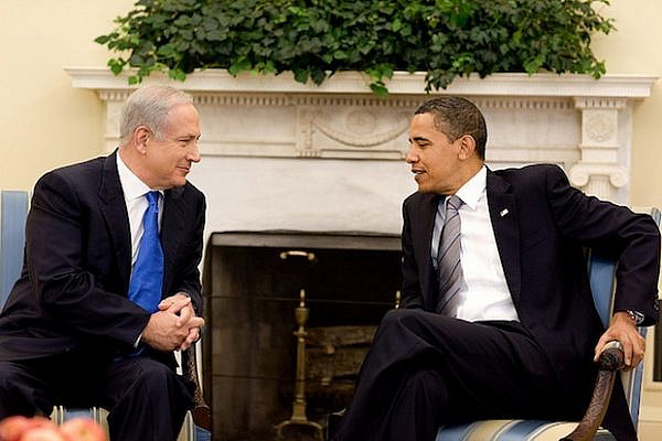 Prime Minister Netanyahu and U.S. President Obama (White House/US Gov't Work)