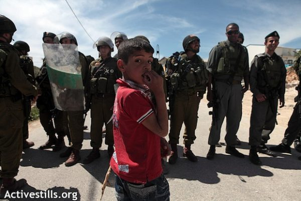 Demonstration against wall in Al Ma'asara (Activestills)