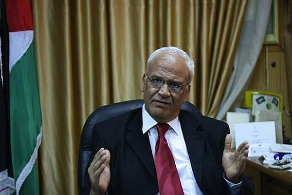 Palestinian Authority chief negotiator Saeb Erekat (Photo: Lisa Goldman)