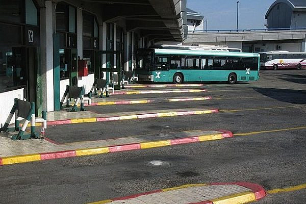 Tel Aviv Central Bus Station platform (Wikimedia/public domain)