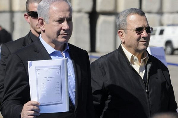 Prime Minister Benjamin Netanyahu and Defense Minister Ehud Barak in a briefing to to press on Iran (photo: IDF Spokesperson / CC BY-NC 2.0)