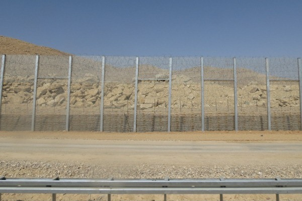The fence on the Egypt-Israel border (Yuval Ben-Ami)