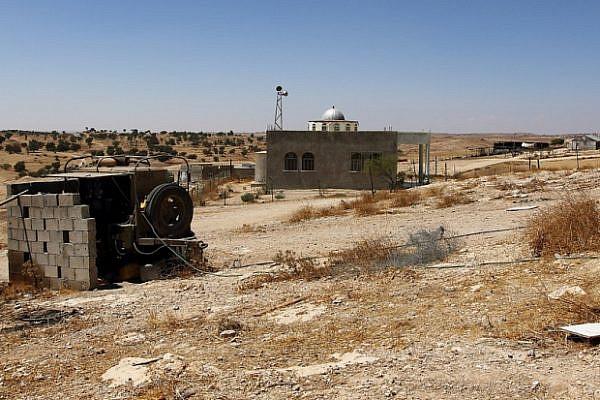 The mosque at the unrecognized Bedouin village Um al-Hiran (photo: Yossi Gurvitz)