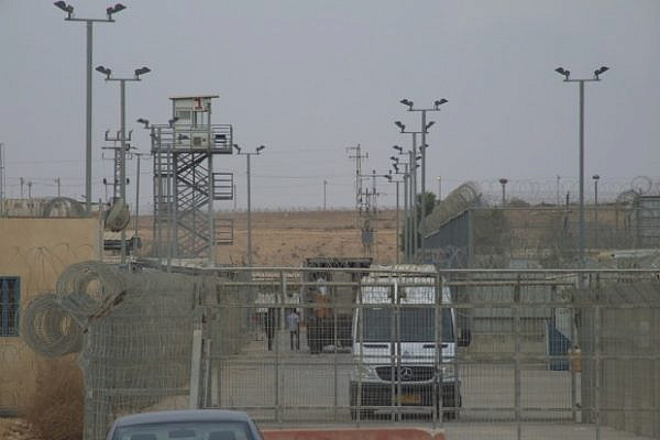 the gate to saharonim prison (photo: noam sheizaf)