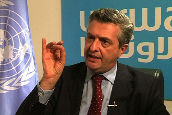 UNRWA chief Filippo Grandi calls for continued donor support for Palestinian refugees, Jerusalem, November 2012 (photo: Roee Ruttenberg)