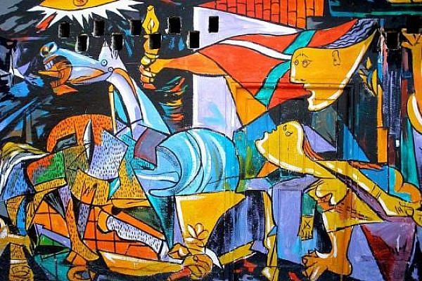 Guernica Mural in Pais Vasco, Spain. (photo: Zarateman / Wikimedia Commons)
