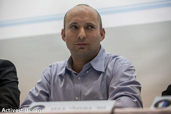 "Leader of the National Religious Party (""Jewish Home"") Naftali Bennett (photo: Yotam Ronen / activestills.org)"