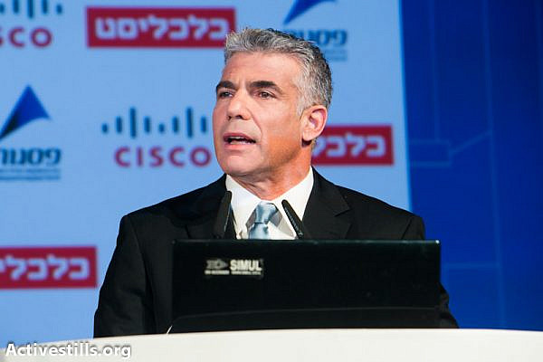 Yair Lapid (photo: Yotam Ronen / Activestills.org)