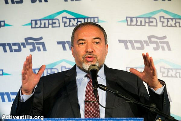 Avigdor Lieberman (photo: Yotam Ronen / activestills.org)