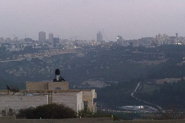 A view of Jerusalem from the village of Beit Iksa. (photo: Yuval Ben-Ami)