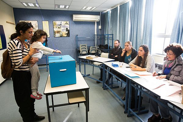 Israelis voting in the 2013 Knesset elections (photo: Oren Ziv/Activestills)