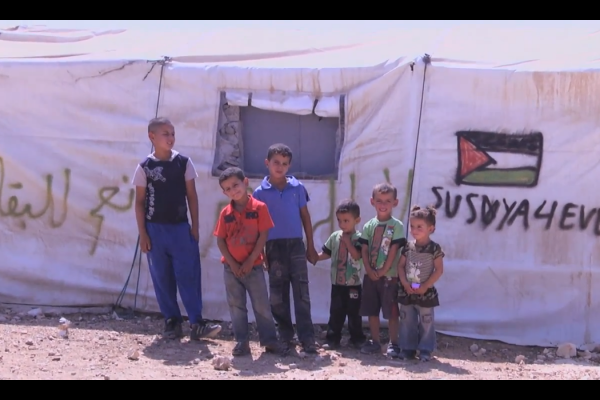 Children from the village Susya, in the South Hebron Hills. (screenshot: YouTube)
