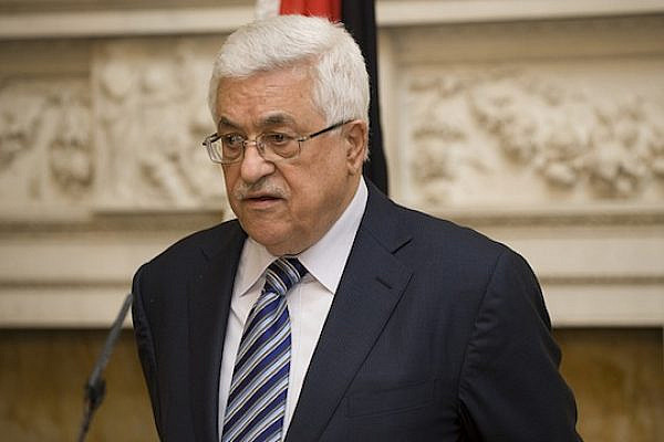 President of the Palestinian National Authority Mahmoud Abbas at a joint press conference in Whitehall. (flickr / Cabinet Office CC)