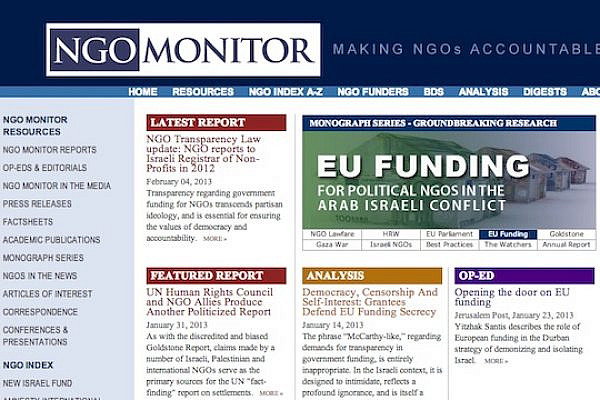 NGO Monitor (ngo-monitor.org screenshot)