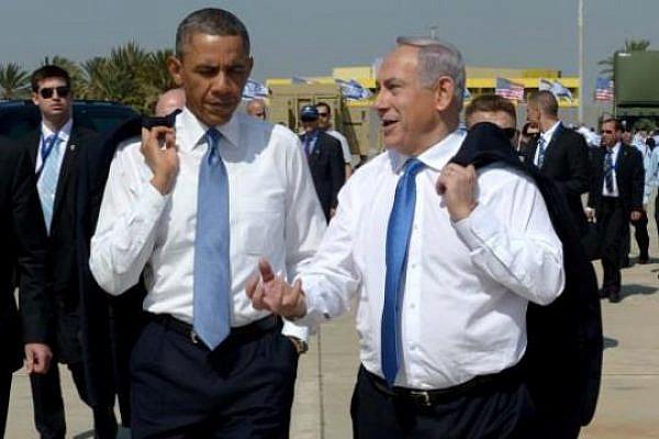 President Obama and Prime Minister Binyamin Netanyahu at Ben-Gurion airport (photo: Avi Ochayon / Government Press Office)