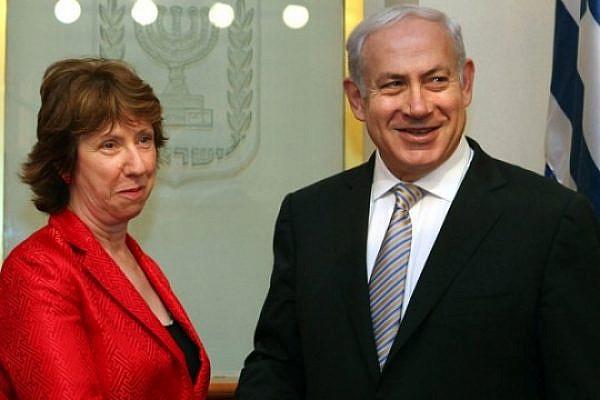 Catherine Ashton and Israeli Prime Minister Benjamin Netanyahu.  (European Union / CC BY-NC-ND 2.0)