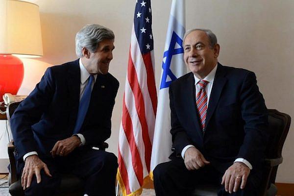 Prime Minister Netanyahu and U.S. Secretary of State John Kerry at their Meeting in Jerusalem (photo: Kobi Gideon/GPO)