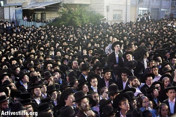 About 30,000 Ultra-Orthodox came to anti-draft rally (Oren Ziv / Activestills)