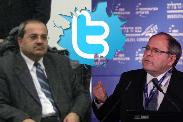 MK Ahmad Tibi and former settler leader Dani Dayan fight on Twitter (Photo: Jonathan Klinger/CC, Herzliya Conference PR)
