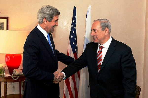 U.S. Secretary of State John Kerry meets with Israeli Prime Minister Benjamin Netanyahu in Jerusalem on April 9, 2013. (photo: State Department photo/ Public Domain)
