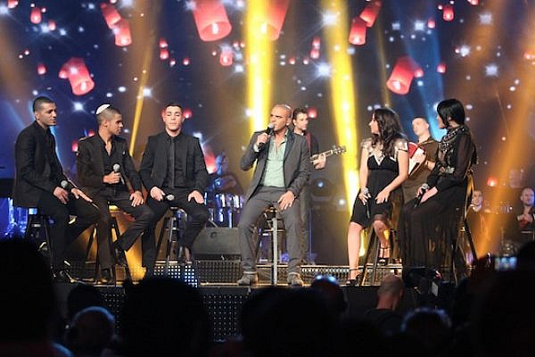 The finalists on 'Eyal Golan is Calling You' during the finale, March 5, 2013 (Photo: Ortal Dahan)