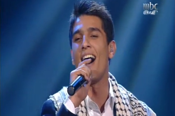 Palestinian Mohammad Assaf, singing in 'Arab Idol (Screenshot)