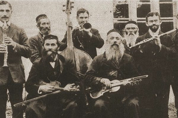 An undated photo of Ukrainian Hasidim playing classical instruments. (photo: Wikicommons)