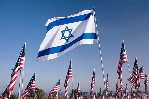 Israeli and American flags (Shutterstock.com)