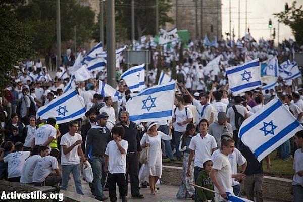 Israeli nationalists march in Jerusalem, May 20, 2012. (Photo: Oren Ziv/Activestills.org)