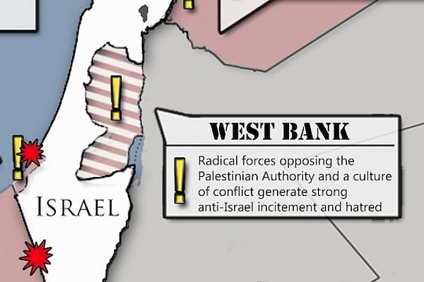 Threats Facing Israel Map (By Israeli Embassy in the U.S.)
