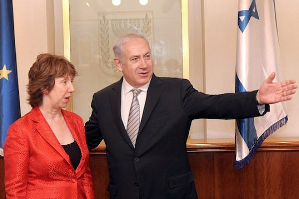 EU foreign policy chief Catherine Ashton with PM Benjamin Netanyahu (Photo: GPO/Avi Ohayun)