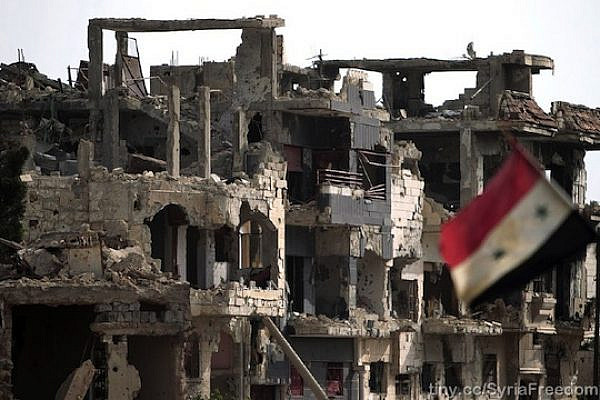 Illustrative photo of a bombed out building in Homs, Syria (FreedomHouse/CC)