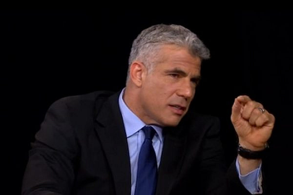 Yair Lapid on the Charlie Rose Show (Screenshot)