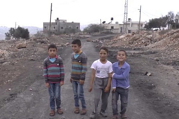 Four children, aged 5 to 9, who were detained by the IDF in Qaddum (Photo: SocialTV screenshot)