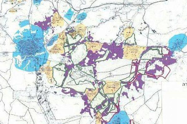 Map of the planned Prawer-Begin Plan (Courtesy of MK Dov Khenin)