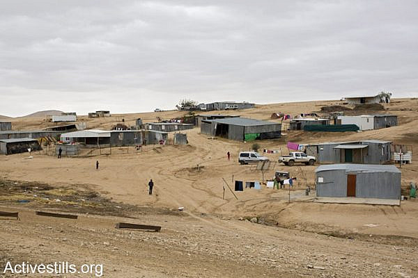 One of 35 unrecognised Bedouins villages in the Negev, Israel, December 10, 2013. (photo: Keren Manor/Activestills.org)