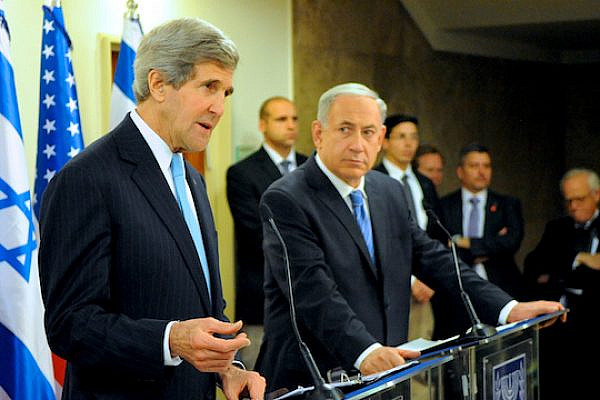 U.S. Secretary of State John Kerry with Prime Minister Benjamin Netanyahu in Jerusalem. (State Dept. Photo)