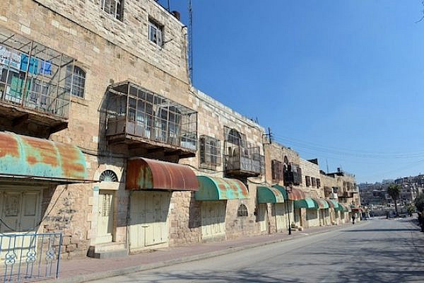 File photo of Shuhada Street in Hebron (Photo by Dana Direktor/'The Hottest Place in Hell')