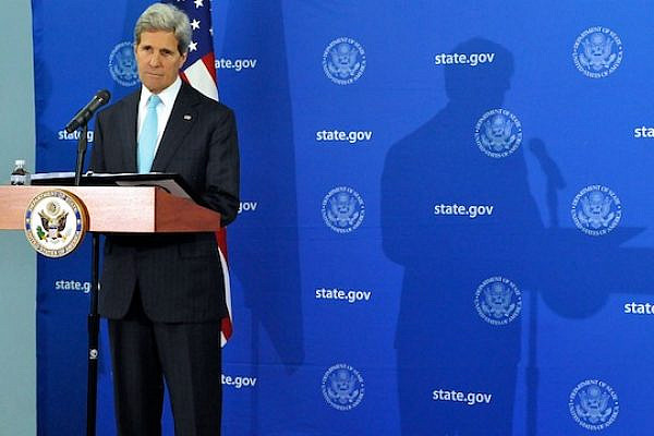 Secretary Kerry Listens to Reporter's Question During News Conference in Juba. (photo: State Department)