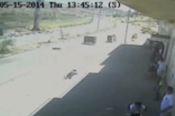CCTV cameras capture IDF shooting of two Palestinians during a Nakba Day protest outside Ofer Prison.