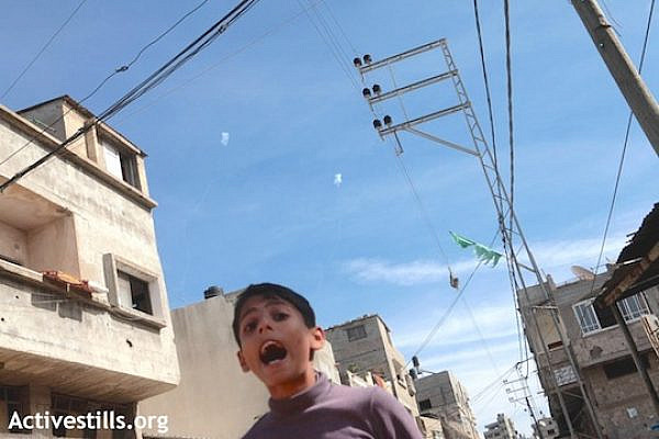 A Palestinian child in Gaza on the third day of Operation Pillar of Defense in 2012. (Activestills.org)