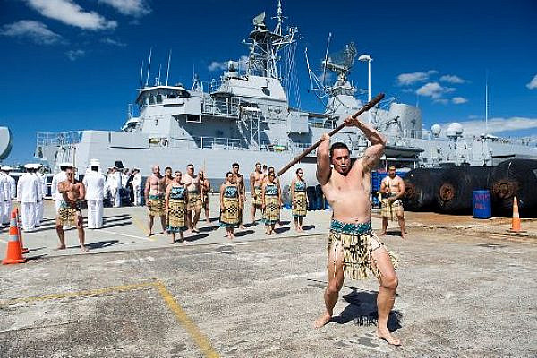 Maori presentation at an NZ Navy base (Photo by New Zealand Defence Force)