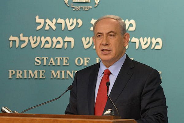 Prime Minister Benjamin Netanyahu gives a statement to the press, November 11, 2014. (Photo by Amos Ben-Gershom/GPO)