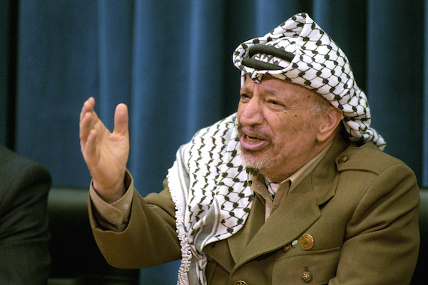 PLO Chairman Yasser Arafat in 1996. (UN Photo/Evan Schneider)