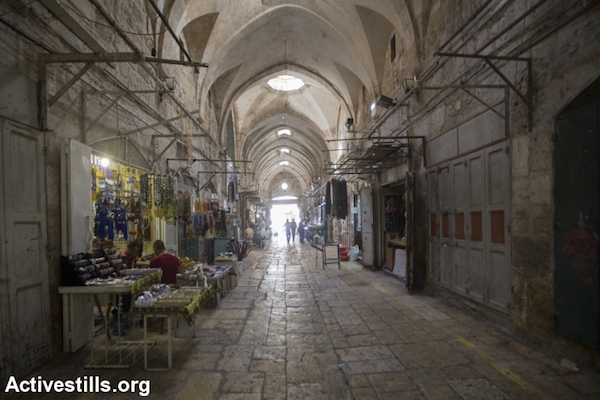 The Old City of Jerusalem, September 26, 2014. (Photo by Faiz Abu Rmeleh/Activestills.org)