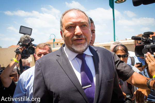 Foreign Minister Avigdor Liberman (Photo by Activestills.org)