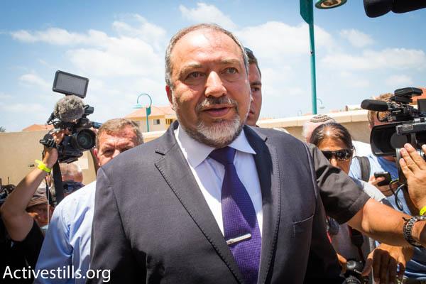 Foreign Minister Avigdor Liberman (Photo by Activestills.org)